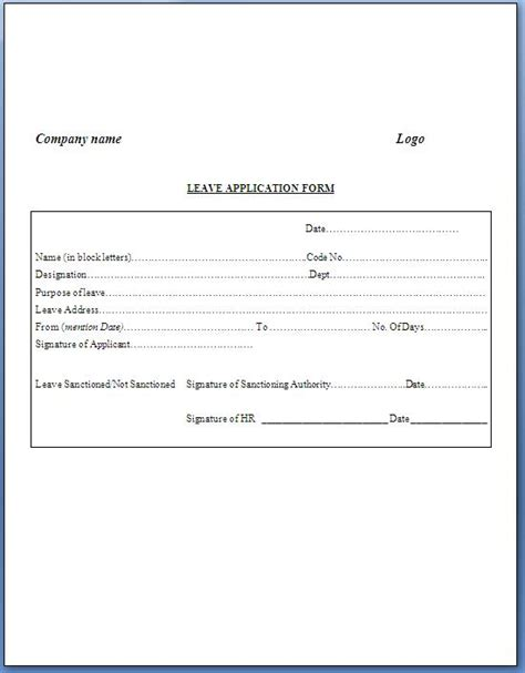 Exle Request Letter For New Computer In Office Company Leave Application Format