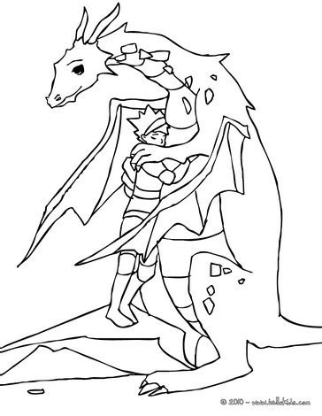 coloring pages knights and dragons dragon with knight coloring pages hellokids com