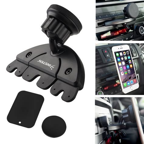 Patchworks Universal Magnetic Phone Holder Car Mount Set Original insten 2130258 universal car cd slot magnetic phone holder mount for iphone 6 6s 6 plus 6s plus