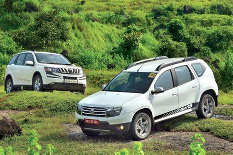 renault and mahindra duster car vs mahindra xuv renault duster vs mahindra xuv