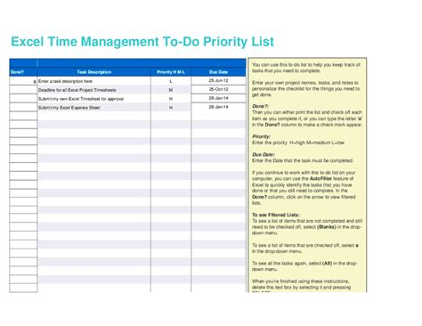 time management to do list template hashdoc