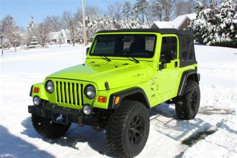 Gecko Green Jeep Wrangler 2001 Jeep Wrangler Sport Tj 4x4 Clean With Gecko Green Paint