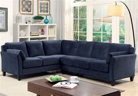Ebay Sectional Sofa Peever Living Room Sectional Sofa L Shaped Tufted Cushion Navy Blue Flannelette Ebay