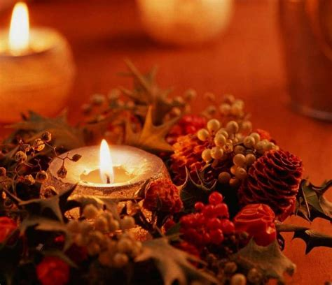 immagini di candele natalizie centrotavola natale foto pourfemme