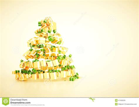 3d Xmas Gift Christmas Tree Spiral Shape Concept Stock Image Image 47400529 Tree Poster Template