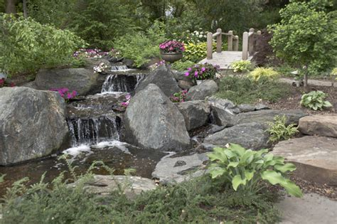 aquascape inc water gardens and waterfalls traditional landscape chicago by aquascape inc