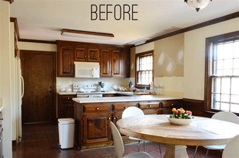 wood trim vs white trim painting dark trim paneling in the kitchen young house