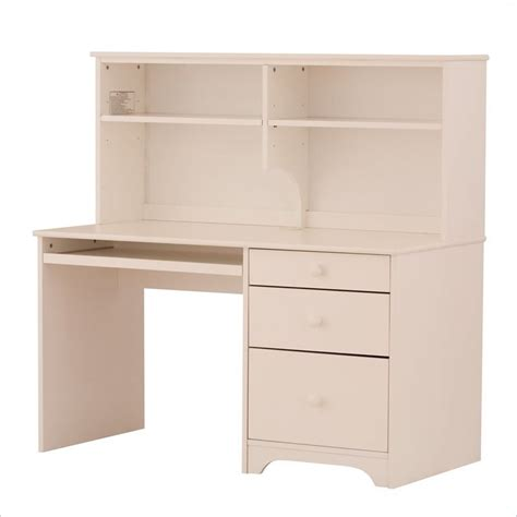 Desk With Hutch White Canwood Desk With Hutch In White 791 792 1