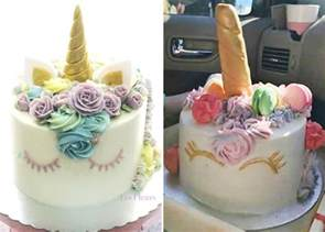 these parents will never order a unicorn birthday cake