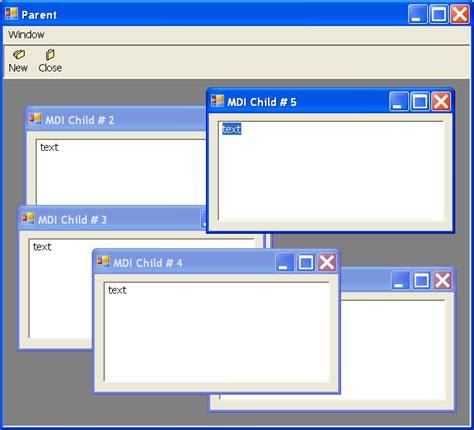 mdi form design template in c set mdi parent window mdi 171 gui windows form 171 c c sharp