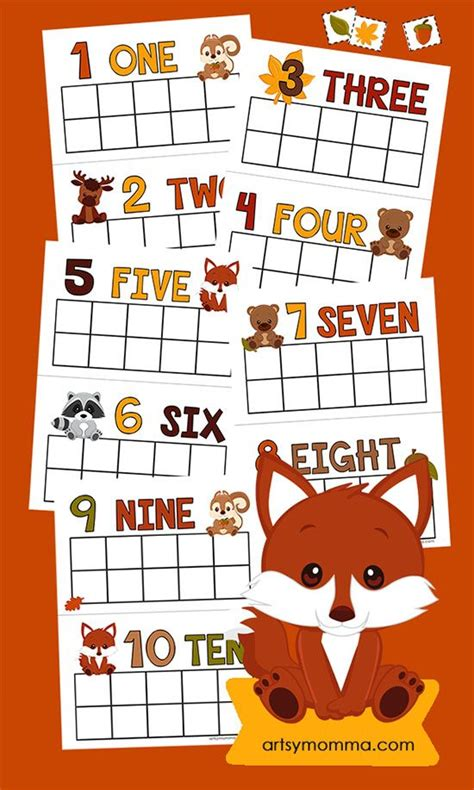 printable memory games for kindergarten printable fall counting cards memory match game