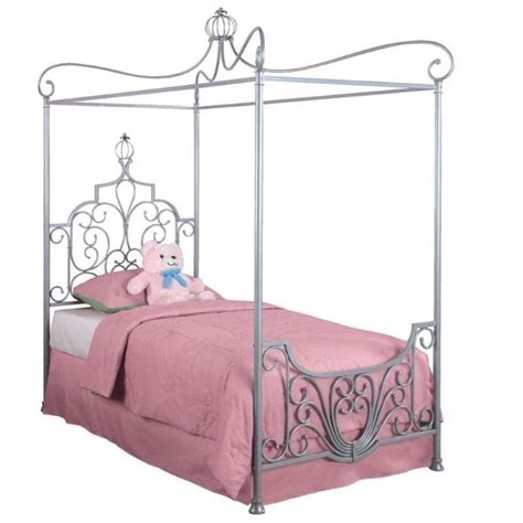 canopy for twin bed powell furniture princess rebecca quot sparkle silver quot twin