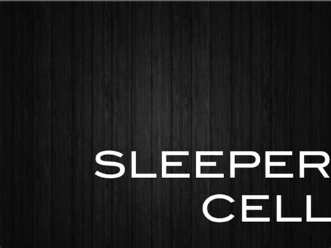 Sleeper Cell Terrorism by Sleeper Cell By Tiarnan O Sullivan Femke Vollenberg