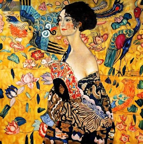 gustav klimt with fan paintings museum quality reproductions modern