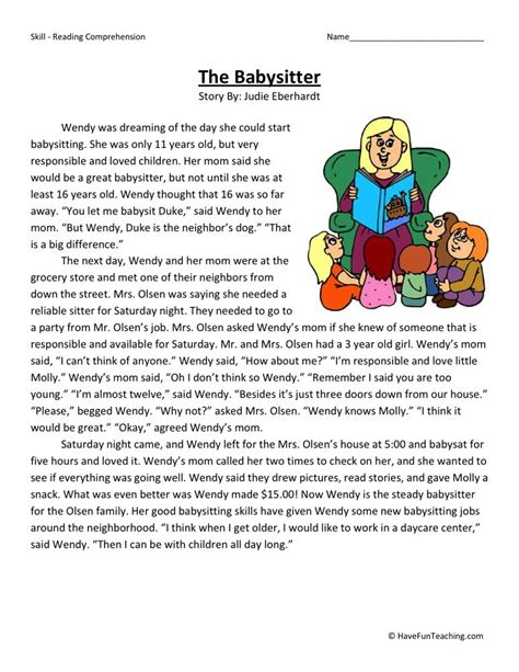 Printable Reading Comprehension Worksheets by 4th Grade Reading Comprehension Worksheets Free