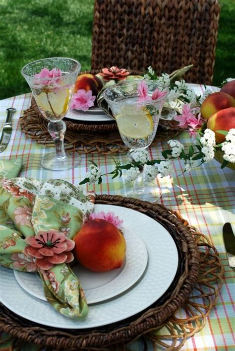 summer table settings spring summer outdoor table setting tablesetting