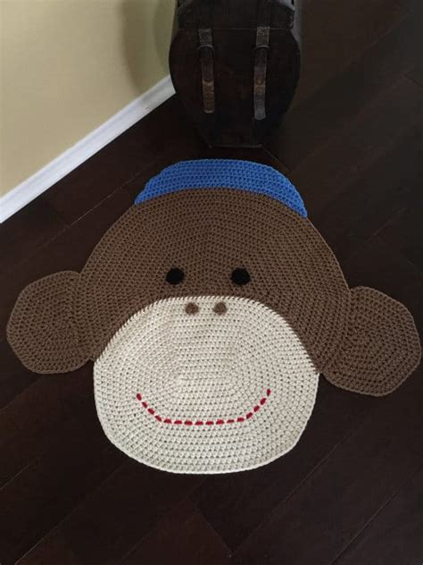 Sock Monkey Rug by Crochet Animal Rugs Beautiful Patterns The Whoot