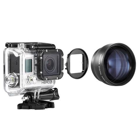telephoto lens adapter 58mm telephoto lens kit for gopro 3 2x telephoto lens