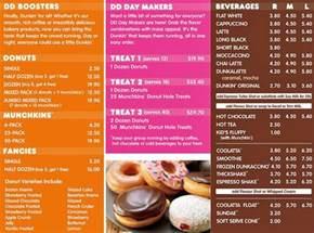 Menu Dunkin Donuts Dunkin Donuts Menu Menu For Dunkin Donuts Rotorua