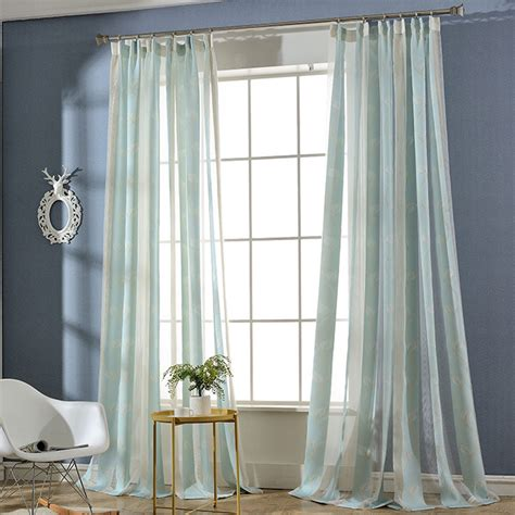 Curtains From Ceiling To Floor Floor To Ceiling Leaf Striped Sheer Curtains