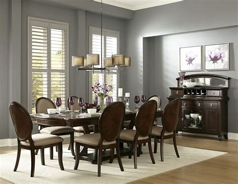 rich dining room delavan rich brown cherry extendable dining room set from