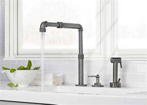 industrial looking kitchen faucets rubinetti in stile industriale ideare casa