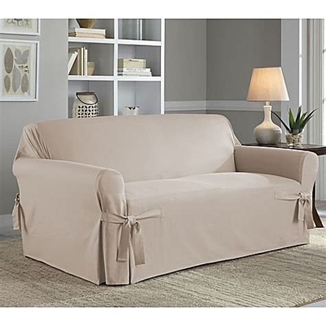 bed bath beyond slipcovers perfect fit 174 classic relaxed fit loveseat slipcover bed