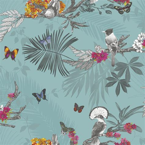 Pink And Blue Bedroom Designs - girls bedroom butterfly wallpaper in pink white teal more new free p p ebay