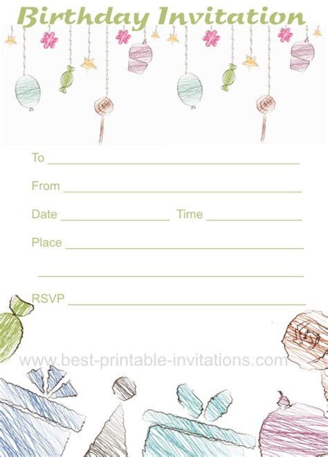 free printable birthday invitations without downloads free birthday invitation