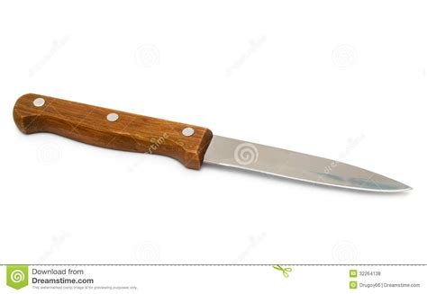 Wooden Handle Kitchen Knives | kitchen knife with wooden handle royalty free stock photos