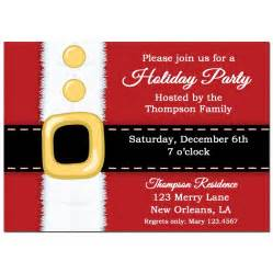 santa s belt christmas party invitation by that party