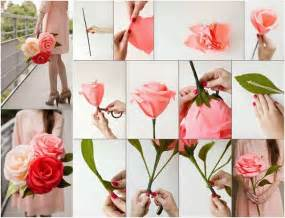 Paper Flower Steps - diy paper flower tutorial step by step instructions