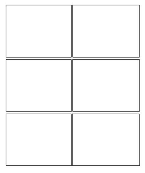 Comic Book Template 6 Box Comic Strip Template Growing A Comic Frames Template
