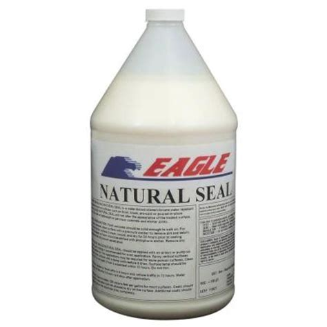 eagle 1 gal natural seal penetrating clear water based concrete and masonry water repellant