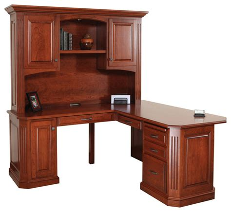 Traditional Corner Desk Buchingham Office 68 Quot Corner Desk And Hutch Traditional Desks And Hutches By Quality Woods