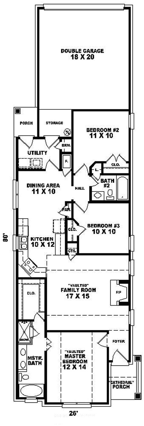 House Plan For Narrow Lot by Travella One Story Home Plan 087d 0043 House Plans And More