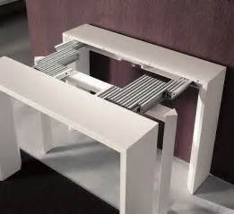 golia extending console dining table modern console