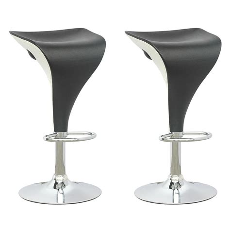 Black And White Bar Stool Corliving Adjustable Two Toned Swivel Bar Stool In Black And White Set Of 2 Dpv 405 B The