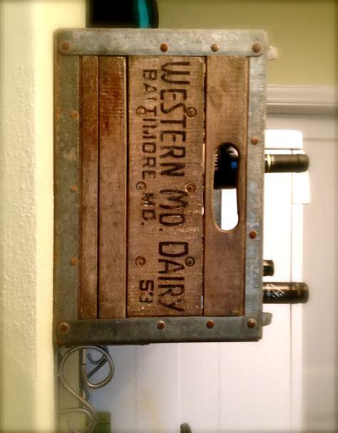 Repurpose Metal Wine Rack by Upcycled Milk Crate Wine Rack Oh Vintage