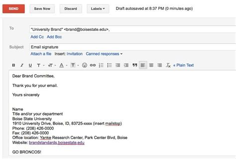 Email Signature Brand Standards Don T Go Breakin My Rules Pinterest Email Signatures College Email Template