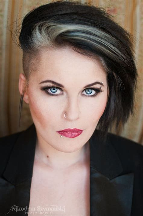 pictures of streaked black hairstyles black hair with silver streaks short black hair shaved