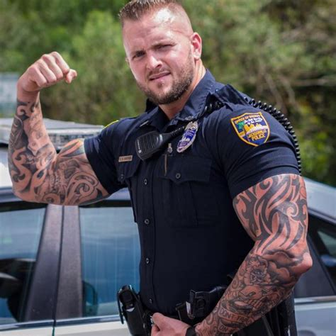 police with tattoos home