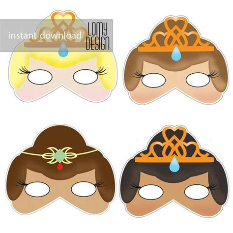 printable girl mask 28 best images about princess party on pinterest