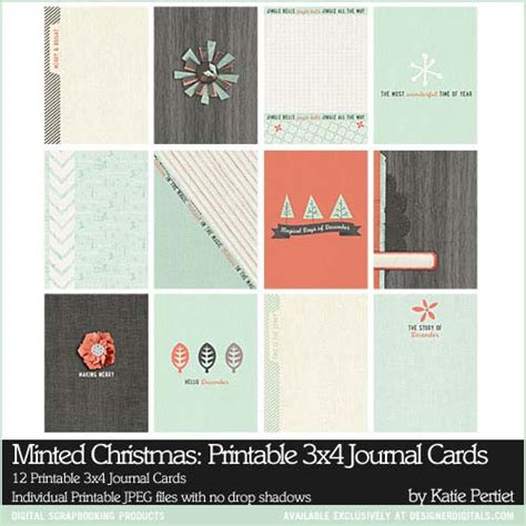 free printable christmas journaling cards minted christmas printable 3x4 journal cards katie