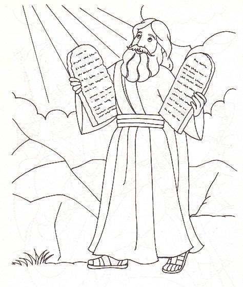 printable coloring pages ten commandments 43 moses and the 10 commandments moses 10