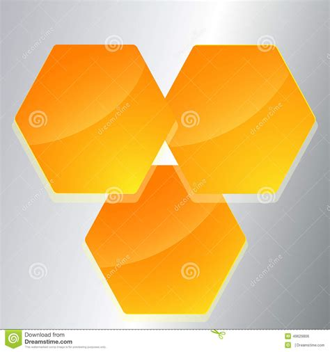 template page layout leaflets hexagon shape stock vector