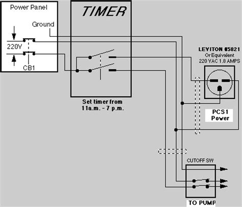 pool timer wiring diagram timer connection diagram