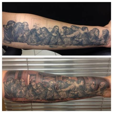 last supper tattoo jesus the last supper best tattoos