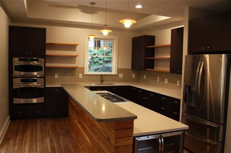 floating kitchen cabinets floating shelving finish carpentry contractor talk
