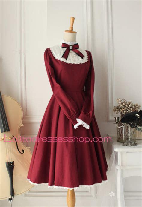 cheap castle girl wine red vintage classic lolita dress